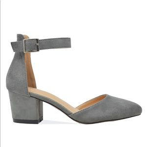 ⭐️ Gray Suede D'Orsay Pump - Women